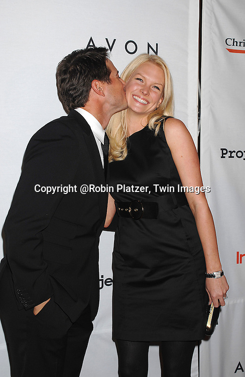 Scott Wolf and wife Kelley..posing for photographers at The Project ALS 10th Anniversary  celebration on October 16, 2007 at ..The Waldorf Astoria in New York. ..Robin Platzer, Twin Images....212-935-0770