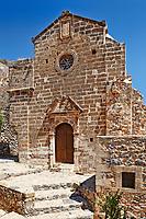 Evagelistria church in the Byzantine castle-town of Monemvasia in Greece