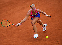 Paris, France, 24 June, 2016, Tennis, Roland Garros,  Kiki Bertens (NED) upset 13h seat Kerber of Germany in the first round<br /> Photo: Henk Koster/tennisimages.com