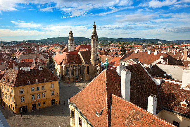 Roof top views Sopron, Hungary