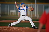 Nathan Jaworski (15) of Bloomfield Hills High School in Bloomfield Hills, Michigan during the Baseball Factory All-America Pre-Season Tournament, powered by Under Armour, on January 13, 2018 at Sloan Park Complex in Mesa, Arizona.  (Mike Janes/Four Seam Images)