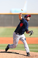 Kyle Blair - Cleveland Indians - 2010 Instructional League. Blair, the Indians 4th round draft choice, pitches in his first game in an Indians uniform against the Dodgers at the Indians complex in Goodyear, AZ - 09/24/2010.Photo by:  Bill Mitchell/Four Seam Images..