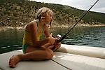 Fishing at Flaming Gorge Reservoir. Fishing at Flaming Gorge Reservoir.