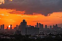 Sunset over Manila, Philippines