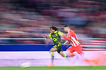 Gelson Martins of Sporting CP (L) in action during the UEFA Europa League quarter final leg one match between Atletico Madrid and Sporting CP at Wanda Metropolitano on April 5, 2018 in Madrid, Spain. Photo by Diego Souto / Power Sport Images