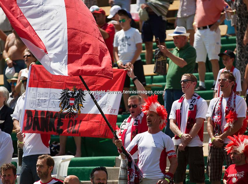 Austria, Kitzbühel, Juli 17, 2015, Tennis, Davis Cup, Austrian supporters<br /> Photo: Tennisimages/Henk Koster