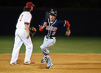 Lake Brantley Patriots Trent Blum (05) during a game against the Lake Mary Rams on April 2, 2015 at Allen Tuttle Field in Lake Mary, Florida.  Lake Brantley defeated Lake Mary 10-5.  (Mike Janes/Four Seam Images)
