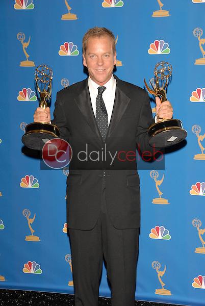 Kiefer Sutherland<br />in the Press Room at the 58th Annual Primetime Emmy Awards. The Shrine Auditorium, Los Angeles, CA. 08-27-06<br />Scott Kirkland/DailyCeleb.com 818-249-4998