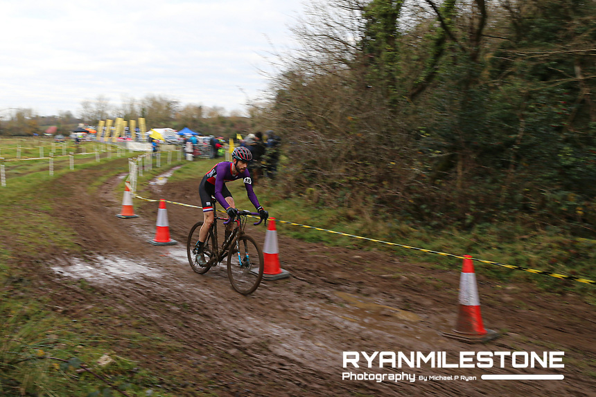 EVENT:<br /> Round 5 of the 2019 Munster CX League<br /> Drombane Cross<br /> Sunday 1st December 2019,<br /> Drombane, Co Tipperary<br /> <br /> CAPTION:<br /> Barry Walsh of St Tiernans Cycling Club in action during the A Race - Senior<br /> <br /> Photo By: Michael P Ryan