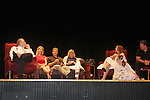 "Robert Forester, Cynthia Watros, Grant Aleksander, Tina Sloan, Emma Gilliland and Meredith Taylor - cast on stage with Guiding Light's Michael O'Leary author of ""Breathing Under Dirt"" - full play - had its world premier on August 13 and 14, 2016 at the Ella Fitzgerald Performing Arts Center, University of Maryland Eastern Shore, Princess Anne, Maryland  (Photo by Sue Coflin/Max Photos)"