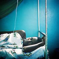 A pregnant woman who has malaria in a clinic near Bujumbura.