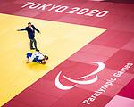 Priscilla Gagné, Tokyo 2020 - Para Judo // Parajudo.<br /> Priscilla Gagné competes against Alesia Stepaniuk (RPC) in women's 52kg judo // Priscilla Gagné affronte Alesia Stepaniuk (RPC) en judo féminin 52kg. 27/08/2021.