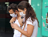 Facecoverings must now be worn in all indoor public spaces, shops, public transport etc. Increasingly Shoppers and Tourists alike are leaving them on in outdoor situations as well. London, Saturday August 1st 2020<br /> <br /> Photo by Keith Mayhew