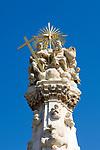 HUN, Ungarn, Budapest, Stadteil Buda, Burgviertel: Dreifaltigkeitssaeule auf dem Dreifaltigkeitsplatz (Szentháromság ter) | HUN, Hungary, Budapest, Castle District: Trinity Column at Trinity Square (Szentháromság ter)