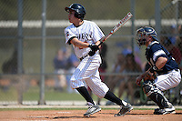 Edgewood Eagles Peter Perales (20) during the second game of a doubleheader against the UW-Stout Blue Devils on March 16, 2015 at Lee County Player Development Complex in Fort Myers, Florida.  UW-Stout defeated Edgewood 8-2.  (Mike Janes/Four Seam Images)