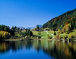 Austria, Tyrol, near Scheffau am Wilden Kaiser: lake Hintersteiner See | Oesterreich, Tirol, bei Scheffau am Wilden Kaiser: der Hintersteiner See