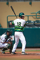 South Florida Bulls right fielder Luke Maglich (18) at bat during a game against the Dartmouth Big Green on March 27, 2016 at USF Baseball Stadium in Tampa, Florida.  South Florida defeated Dartmouth 4-0.  (Mike Janes/Four Seam Images)