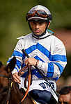 AUGUST 20, 2021:  Umberto Rispoli before the Torrey Pines Stakes at Del Mar Fairgrounds in Del Mar, California on August 20, 2021. Evers/Eclipse Sportswire/CSM