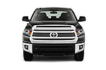 Car photography straight front view of a 2016 Toyota Tundra SR-Crew 4 Door Pickup Front View