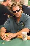 WPT announcer, Vince Van Patten, competes in an event at the 2006 World Series of Poker
