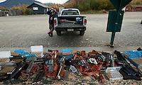 Upon our arrival at the shooting range. Birchwood Alaska.
