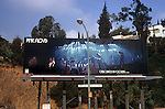 Billboard for Pink Floyd on the Sunset Strip circa 1972