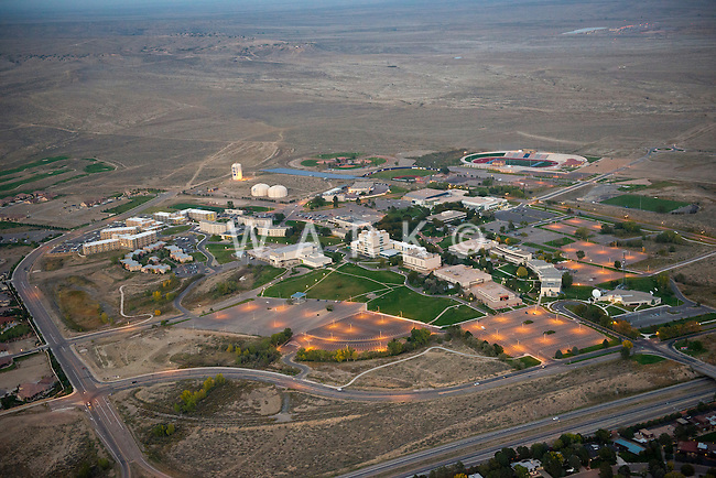 Twilight aerial of Colorado State University, Pueblo. Oct 2012