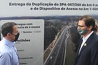 Jundiaí (SP), 17/11/2020 - O governador de São Paulo, João Doria (PSDB), participa da inauguração da obra do trecho de duplicação da Rodovia SPA-067/360, em Jundiaí, interior de São Paulo, com a Secretária Executiva de Logística e Transportes, Priscila Ungaretti e o Secretário de Desenvolvimento Regional, Marco Vinholi, na tarde desta terça-feira (17).