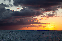 Sunset looking out towards French Cap<br />