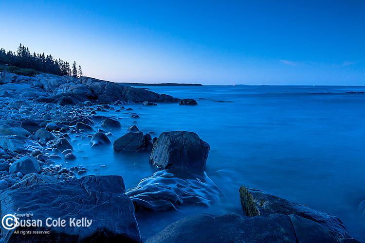 Evening on the Schoodic Peninsula of Acadia National Park, Maine, USA