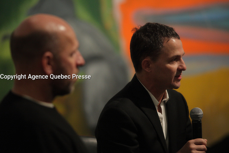 January 21, 2014 - Scottish painter Peter Doig attend the news conference for<br /> NO FOREIGN LAND - NULLE TERRE ETRANGERE,  his first North-American major Retrospective, held at Montreal Museum of Fine Arts, january 25 to May4, 2014.