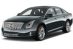 Front three quarter view of a 2013 Cadillac XTS Platinum sedan