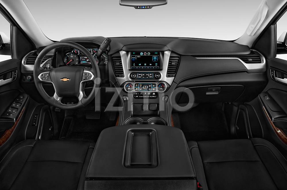 Straight dashboard view of a 2017 Chevrolet Tahoe 2WD LT 5 Door SUV