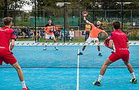 Netherlands, September 6,  2020, Amsterdam, Padel Dam, NK Padel, National Padel Championships, men's semifinal,  Uriël Maarsen (NED) and Bram Meijer (NED) (R)<br /> Photo: Henk Koster/tennisimages.com