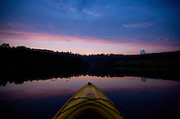Sunset from a kayak in Buckingham County, Va.