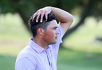 Mako Thompson walks dejectedly after losing his semi final match v Charlie Smail during the New Zealand Amateur Golf Championship, Poverty Bay Golf Course, Awapuni Links, Gisborne, Saturday 24 October 2020. Photo: Simon Watts/www.bwmedia.co.nz