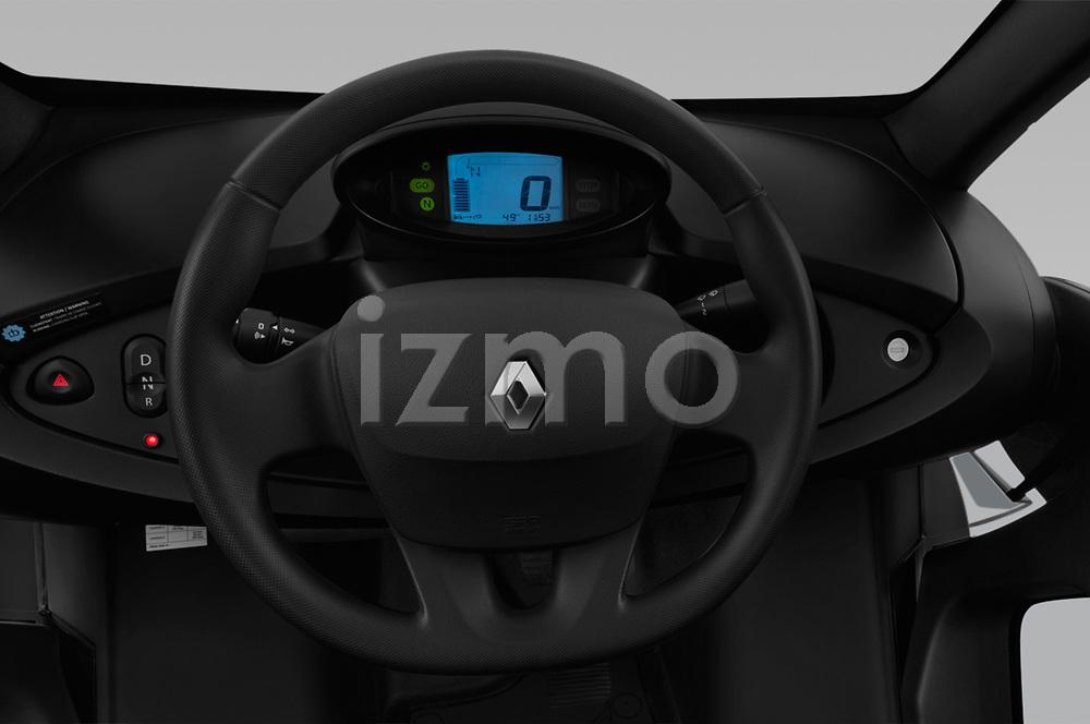 Car pictures of steering wheel view of a 2018 Renault Twizy Cargo 3 Door Hatchback