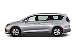 Car Driver side profile view of a 2017 Chrysler Pacifica Touring-L-Plus 5 Door Minivan Side View