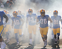 Pitt takes the field; The North Carolina Wolfpack defeated the Pitt Panthers 35-17 at Heinz Field, Pittsburgh, PA on October 14, 2017.