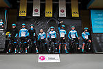Israel Start-Up Nation on stage at the Team Presentation before the 78th edition of Paris-Nice 2020, Plaisir, France. 8th March 2020.<br /> Picture: ASO/Fabien Boukla | Cyclefile<br /> All photos usage must carry mandatory copyright credit (© Cyclefile | ASO/Fabien Boukla)