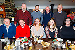 Staff from Atlantic Oils enjoying their Christmas party in the Brogue Inn on Saturday evening<br /> Seated l to r: John Nolan, Paul O'Connor, Brenda O'Riordan, Aisling O'Hanlon and Claire Walsh.<br /> Back l to r: Martin Carroll, Rory Horgan, Martin Brett and Eugene McCarthy.
