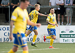 Forfar v St Johnstone….27.07.19      Station Park     Betfred Cup       <br />Matty Kennedy celebrates getting a goal back for saints<br />Picture by Graeme Hart. <br />Copyright Perthshire Picture Agency<br />Tel: 01738 623350  Mobile: 07990 594431
