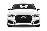 Car photography straight front view of a 2017 Audi A3 Sport 3 Door Hatchback Front View