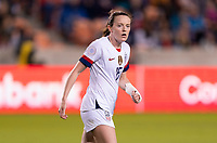 HOUSTON, TX - JANUARY 31: Rose Lavelle #16 of the United States watches her teammates during a game between Panama and USWNT at BBVA Stadium on January 31, 2020 in Houston, Texas.