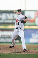 Richmond Flying Squirrels starting pitcher Chris Stratton (18) in action against the Bowie Baysox at The Diamond on May 23, 2015 in Richmond, Virginia.  The Baysox defeated the Flying Squirrels 3-2.  (Brian Westerholt/Four Seam Images)