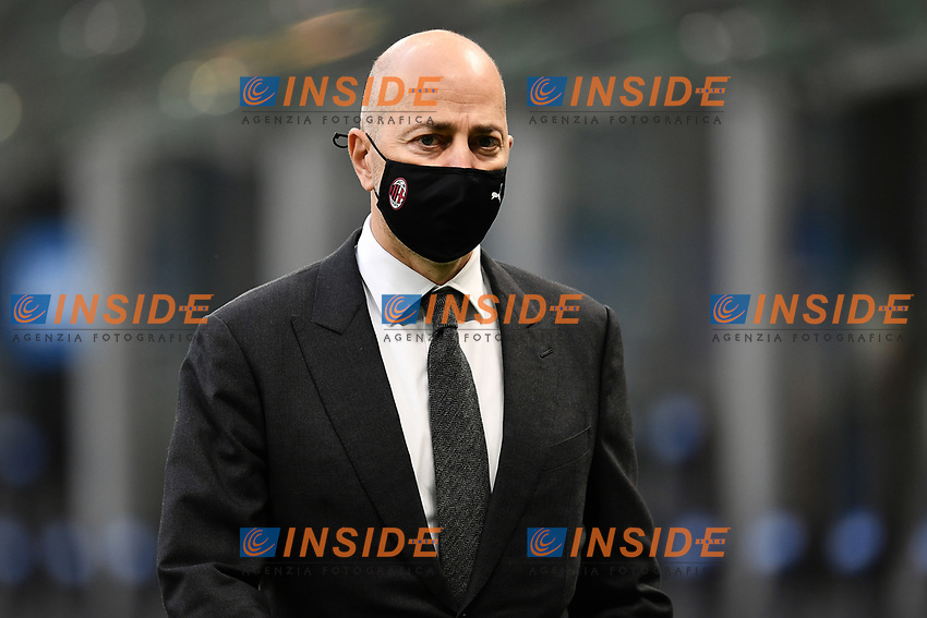 Ivan Gazidis of AC Milan looks on prior to the Serie A football match between FC Internazionale and AC Milan at stadio San Siro in Milano (Italy), October 17th, 2020. Photo Image Sport / Insidefoto