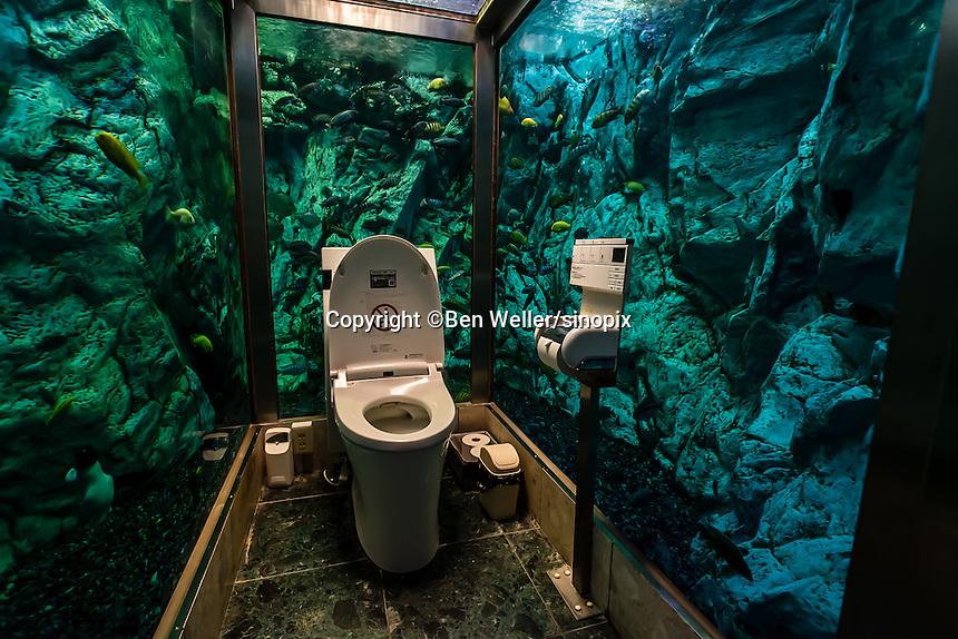 Aquarium Toilet in Japan
