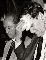 Montreal (QC) CANADA file photo - May 31 1984 - Pierre Trudeau (L), Jean Chretien (R)