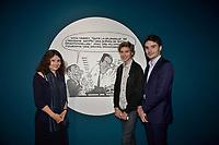 Laurence BRAUNBERGER, Gilles ALEXANDRE, Nicolas RICHELLE - Vernissage de l'exposition Goscinny - La Cinematheque francaise 02 octobre 2017 - Paris - France