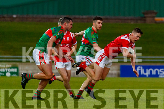 Ronan Buckley, East Kerry in action against Ronan Murphy, Mid Kerry during the Kerry County Senior Football Championship Final match between East Kerry and Mid Kerry at Austin Stack Park in Tralee on Saturday night.